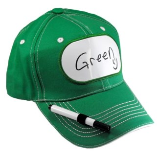 Dry Erase Billboard Cap-Green