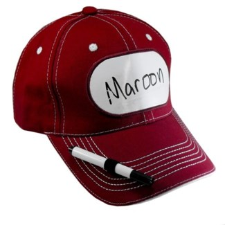 Dry Erase Billboard Cap-Maroon