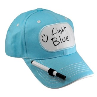 Dry Erase Billboard Cap-Light Blue