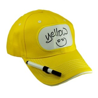 Dry Erase Billboard Cap-Yellow