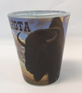 SD Buffalo Shot Glass
