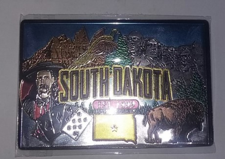 South Dakota Foil Magnet