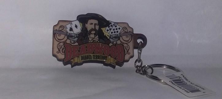 Deadwood Pistols/Poker Two Layer Keychain