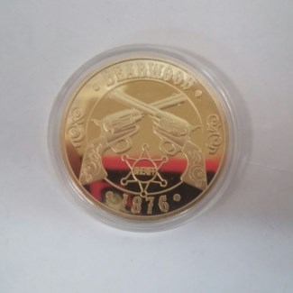Deadwood Gold Coin in Case