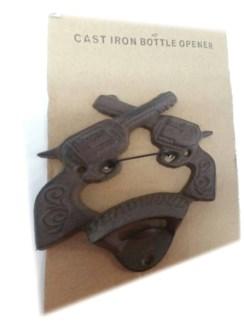 Deadwood Cast Iron Wall-Mount Bottle Opener