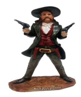 Wild Bill Hickok Resin Statue 6in