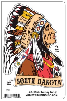 Indian Head South Dakota Sticker