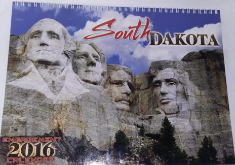 2016 South Dakota Calendar