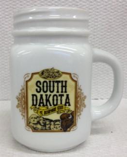 SD White Mason Jar Mug
