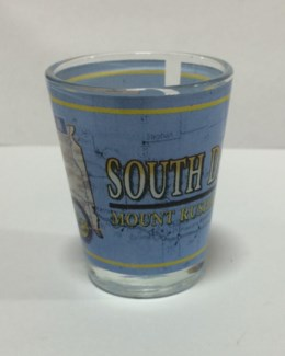 SD Shot Glass with state outline