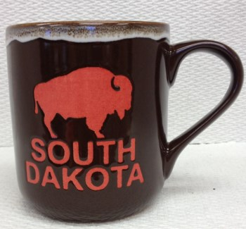 SD Stoneware Brown Buffalo Mug