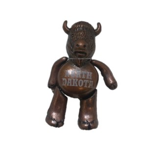 Large Buffalo w/Moving Parts Magnet - bronze