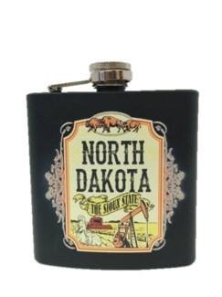 ND 6 oz. Matte Blk Rubber Flask