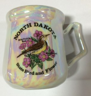 ND State Bird & Flower Pearl Mug