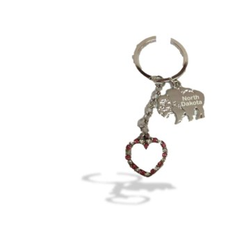 ND Sm Heart Bling KC w/charm