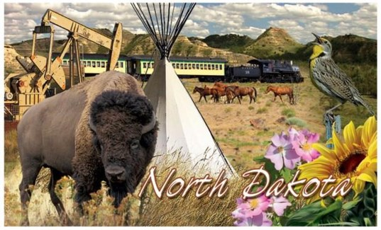 ND 3D Magnet w/ buffalo & tepee