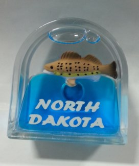ND Walleye Door shape Magnet