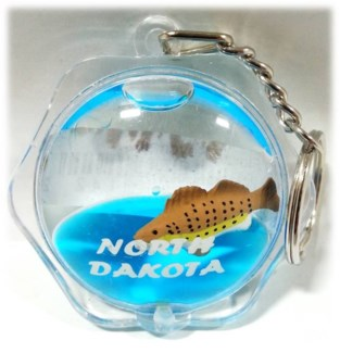 ND Flower shape Walleye Keycchain