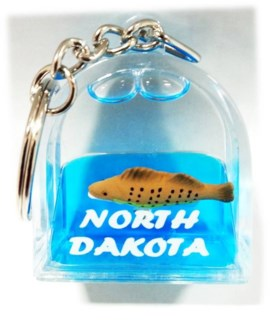 ND Door Shape Walleye Keychain