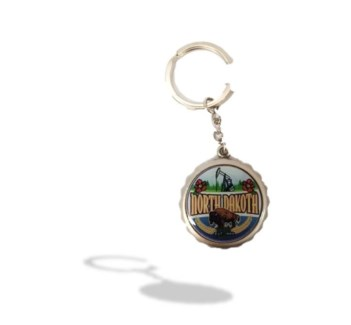 ND Bottle Cap Key Chain