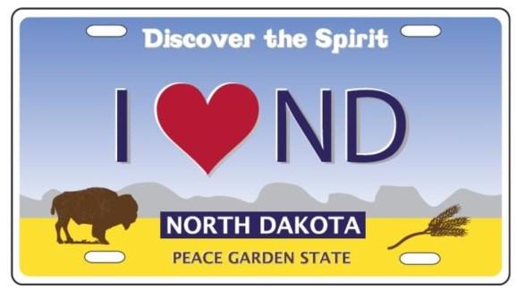 ND Aluminum License Plate Magnet