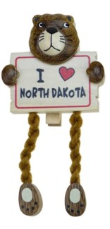 I Heart ND Clothespin Magnet