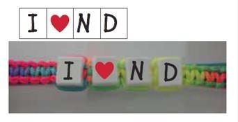 I Heart ND Cube Bracelet
