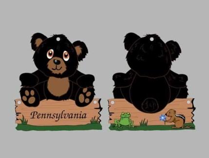 ND Magnet Bear 2 sided acrylic