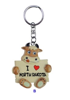 ND Cow Holding Sign KC I heart ND