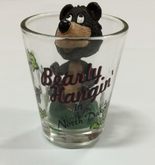ND Shotglass Bobble Head-Bear**Discontinued**