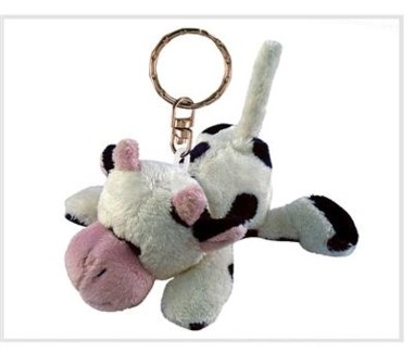 ND Plush Keychain Cow