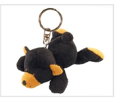 ND Plush Keychain Black Bear