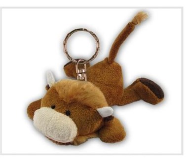 ND Plush Keychain Buffalo