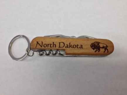 ND Laser Engraved Wood Pocket Knife