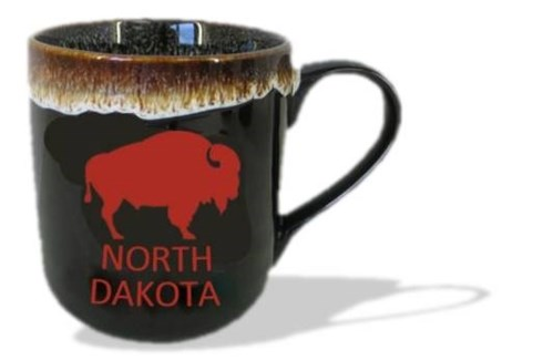 ND Brown Stoneware Buffalo Mug