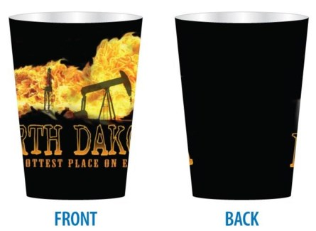 ND Hottest Place on Earth Shot Glass