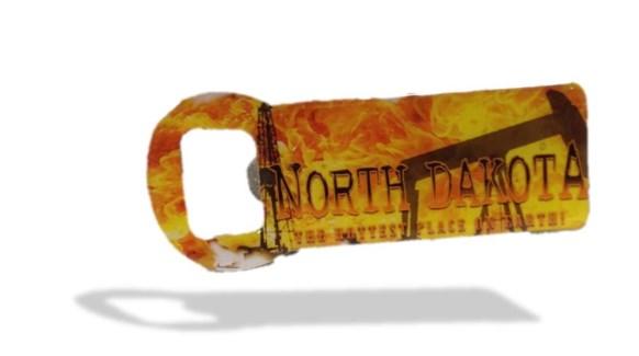 ND Flame Bottle Opener Magnet