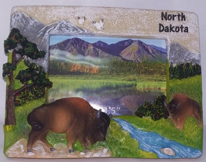 """ND Stone Buffalo Picture Frame 5""""X3.5"""""""