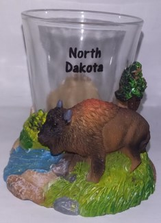 ND Buffalo Stone Shot Glass**Discontinued**