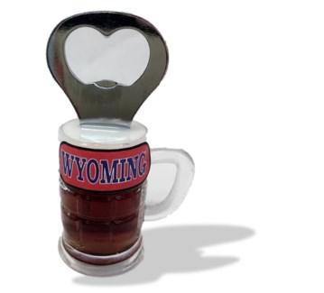 Custom Label Mug Bottle Opener Magnet