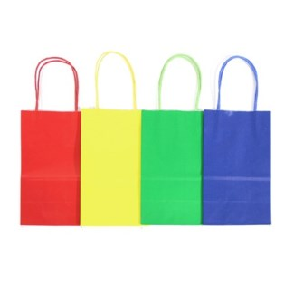 MED Primary Colored Kraft Bag