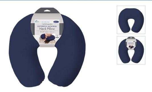 Reg. Travel Pillow Spandex-Navy