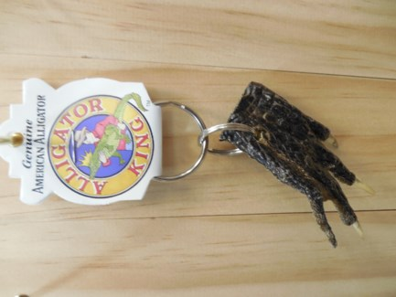 Alligator Foot Keyring