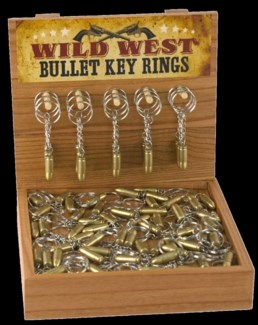 Wild West Bullet Key Ring