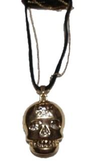 Gold Skull Bling Necklace
