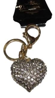 Gold Heart Bling Keychain