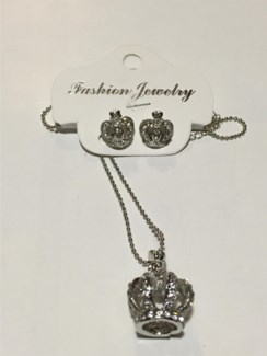 Crown Necklace Earring Set