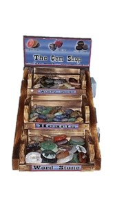 3 Tier DP SM Worry Stone, Hearts, Word Stone