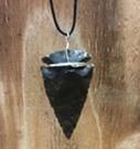 """Arrowhead necklace with 2"""" arrowhead 24 DP"""