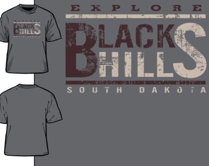 Black Hills Tee - Old Poster Grey - S